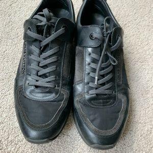 Louis Vuitton Black Damier Spin Sneaker Men Sz 8
